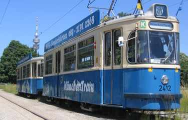 muenchen tram sightseeing munich by vintage streetcar. Black Bedroom Furniture Sets. Home Design Ideas