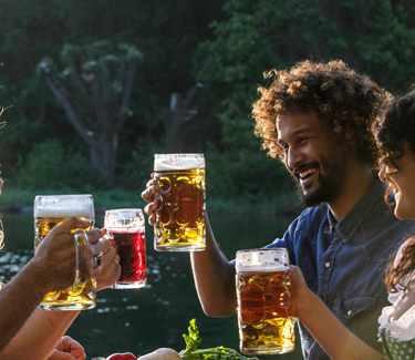 Bier an der Isar