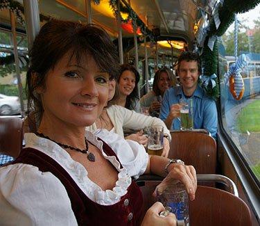 Galerie-Partytram München unterwegs