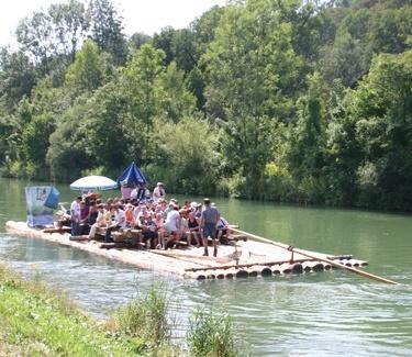 Floßfahrt auf der Isar