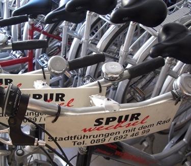 München Fahrradverleih - Spurwechsel