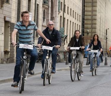 Stadttour München radl mit Spurwechsel
